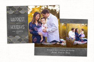 Christmas Card Template CC138