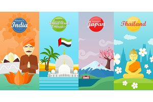 Welcome to Japan, Thailand, India