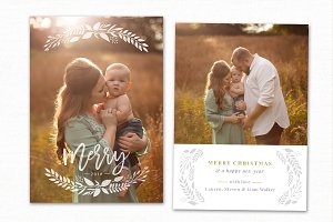Christmas Card Template CC227