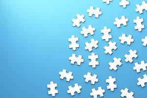 Jigsaw puzzle, pattern texture separ