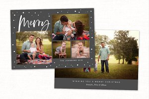 Christmas Card Template CC228