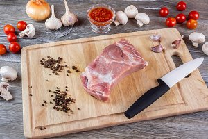 The meat cutting Board