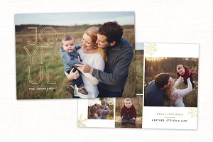 Christmas Card Template CC231