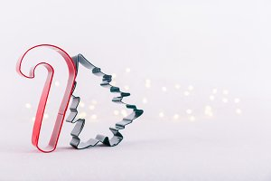 Candy cane & Xmas tree cookie cutter