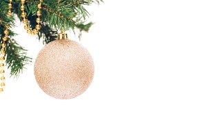 Seasonal background Christmas round