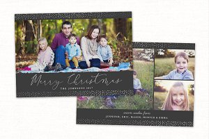 Christmas Card Template CC162