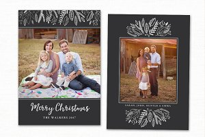 Christmas Card Template CC165