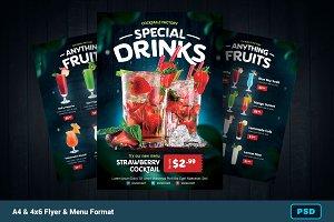 Beverage/Drink Flyer + Menu Bundle