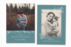 Christmas Card Template CC222