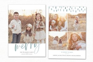 Christmas Card Template CC239