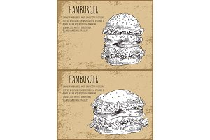Hambergers Graphic Art Isolated on