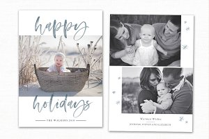 Christmas Card Template CC238