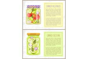 Canned Pickled Vegetables and