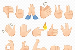 Hands emoji gestures icons