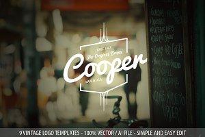 9 Modern Vintage Logo Templates