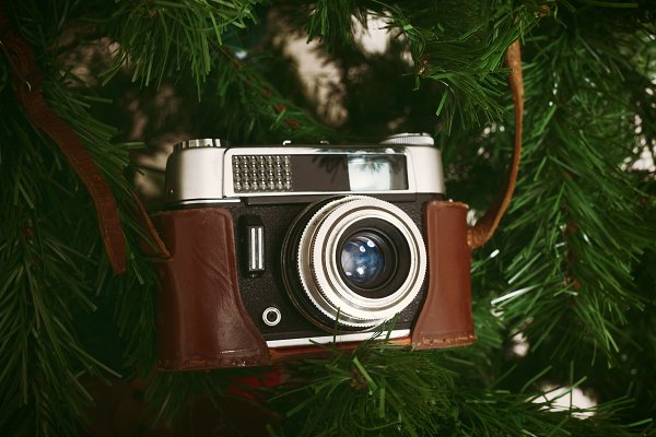 Holiday Stock Photos: Antonio Gravante Market - Vintage camera for christmas