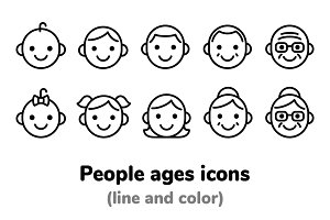 People ages icons