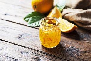 homamade orange jam