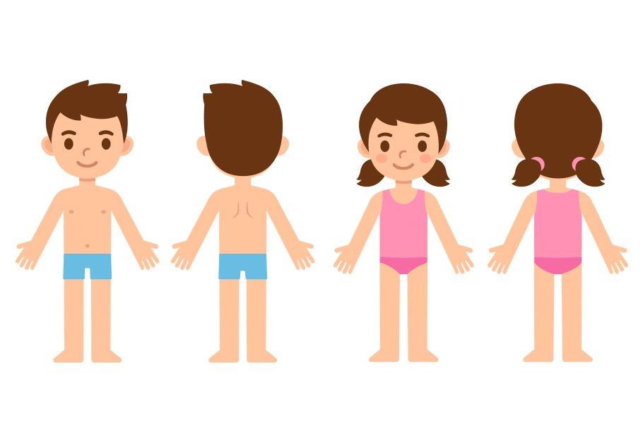 Cartoon children in underwear ~ Illustrations ~ Creative ...