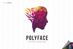 Polygon Face Logo