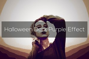 Halloween Dark Purple Effect