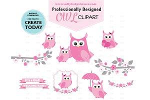 Girl owl Clipart Pink clip art, png