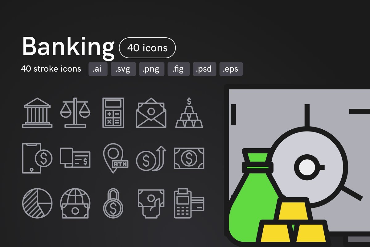 Banking Icons (40 icons)