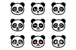 Panda emoticons