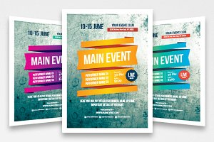 Multipurpose poster template, vol 3