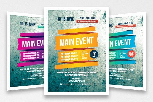 Multipurpose poster template, vol 3