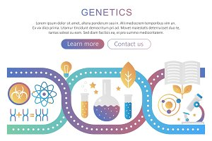 DNA genetics bioengineering concept