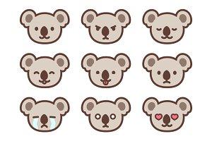 Koala emoticons