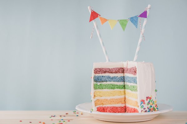 Holiday Stock Photos - Birthday background - striped