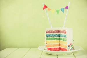 Birthday background - striped