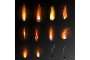 Candle flame vector fired flaming