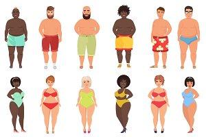 Fat people underwear, bathing suits