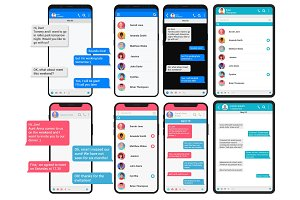 Chating and messaging concepts set