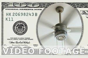 Ceiling fan in 100 dollar bill