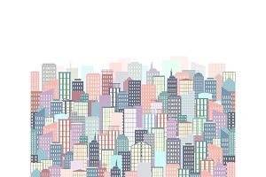 City landscape vector illustration