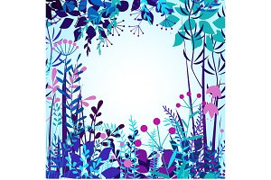 Vector decorative floral frame with