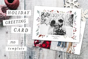 Holiday Christmas Card Template I