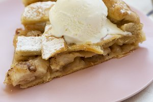 Slice of home-baked apple pie