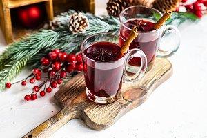 Winter mulled wine