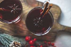 Winter mulled wine