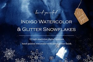 12 Winter watercolor backgrounds