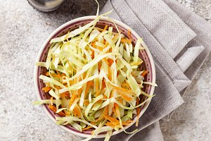 Coleslaw with cabbage, traditional