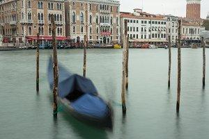 One gondola in Grand Canal