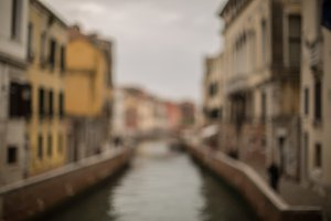 Blurred View on small canal