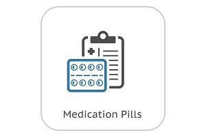 Medication Pills Flat Icon