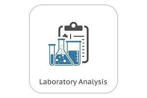 Laboratory Analysis Flat Icon